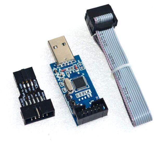 Usbisp usbasp avr programmer with pin to adapter