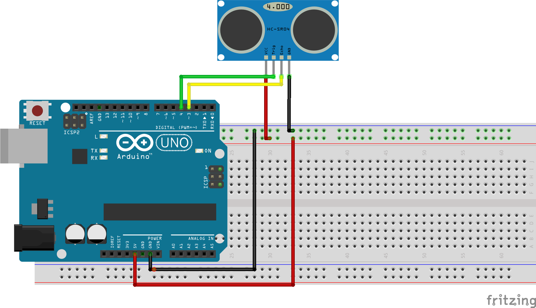 Arduino kit tutorials measuring distance with the