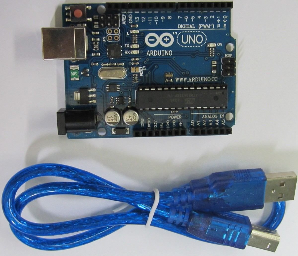 Arduino Uno R3 Hub360 Atmega328p 16u2 Dip Usb Cable Programming Previous